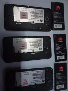 3 Huawei con batería para repuesto,con memoria interna dañada