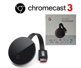 Converti tu tv en Smart!!! Chromecast 3 con garantía, entrega a domicilio y te ayudamos a instalarlo.