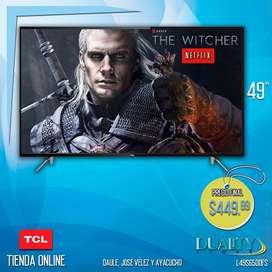Smart Tv Tcl 49 *gratis Soporte De Pared* Control Por Voz |PROMOCIÓN!