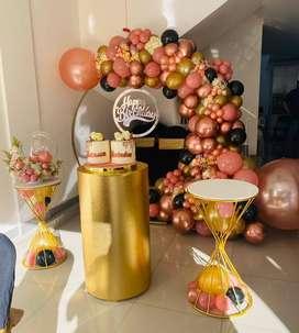 Alquiler de cilindros y articulos de decoracion para eventos cobertura en Valle del Lili y Caney