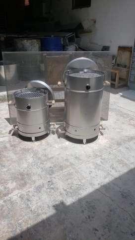 Barriles en acero imoxidable para Asados.