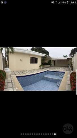 Alquilo Amplia villa con piscina km 2.5 via samborondon