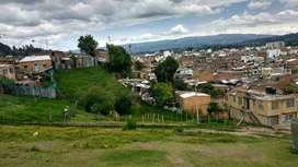 Vendo lote con excelente vista en Chiquinquirá Boyacá