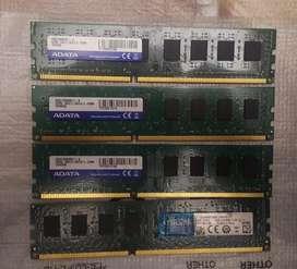 Vendo/cambio Memoria ram 8gb ddr3 y ddr3L 1600 Mhz