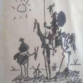 Litografía original Picasso y Andrés Orpinas