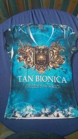 Remeras Nuevas Tan Bionica Talle 1