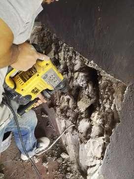 Alquiler Rotomartillo para demoler y perforar concreto