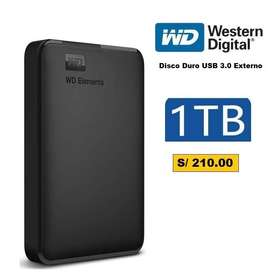 Disco duro Externo 1TB y 2 TB, USB 3.0