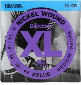 Encordado Guitarra Electrica  .11 Daddario Exl115 para Metal Nuevos