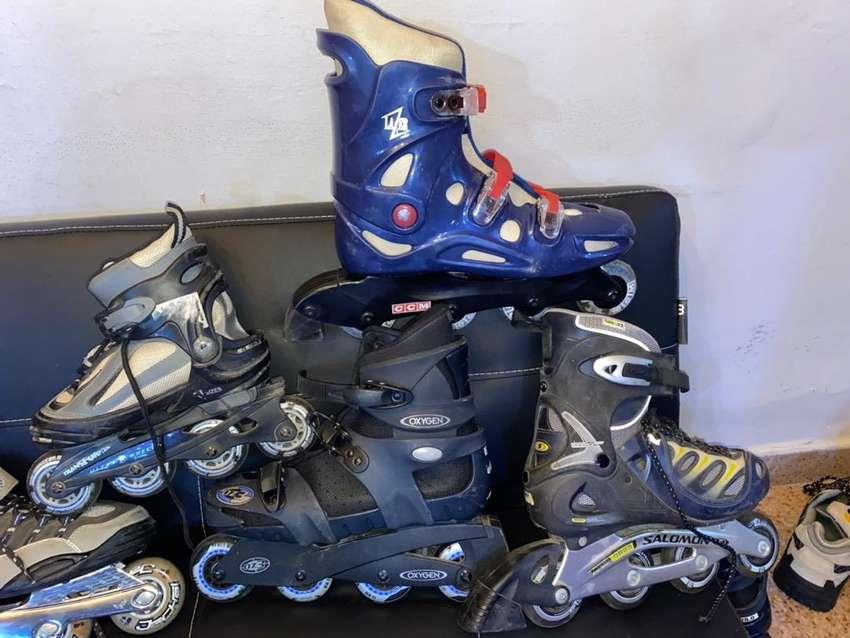 Rollers o patines de 4 ruedas impecables 0
