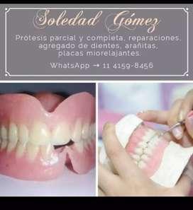Prótesis dentales a domicilio.