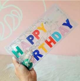 Extension de luz feliz cumpleaños