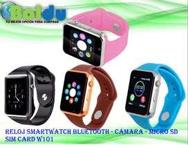 Reloj Smartwatch Bluetooth - Cámara - Micro Sd - Sim Card W101