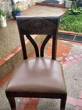 sillas de comedor rusticas X 4