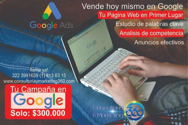 Pagina web en primer lugar Campañas Google ADS, atrae clientes nuevos, mas llamadas, mas contactos, mas visitas 0
