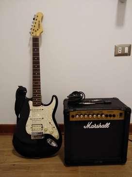 Guitarra electrica Marshall con parlante de regalo!