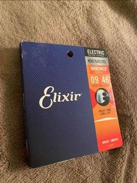 Cuerdas encordado Elixir nanoweb 09-46 suaves duraderas