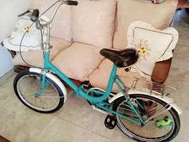 Bicicleta plegable tipo aurorita rodado 20 Fiorenza