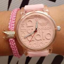 Reloj para mujer rosado