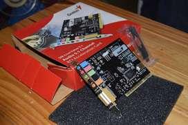 placa de audio genius 5.1 (PCI). sin uso