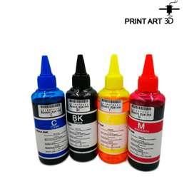 Tinta de sublimación x 100 ml kit x 4 colores.(Cyan, Magenta, Yellow, Black)