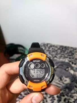 Reloj resistente al agua, cronómetro alarma