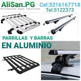 PARRILLAS y barras en aluminio