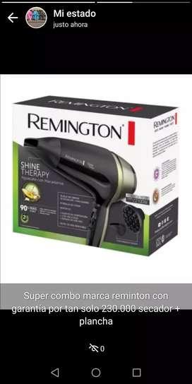 combo de secador mas plancha marca remington