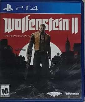 Wolfenstein 2 PS4 usado