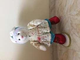 Ratona navideña muñecos country