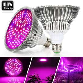 Bombillo Luz Cultivo Led Full Espectro Grow Indoor 100w