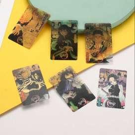 cards transparentes kimetsu no yaiba set completo x16