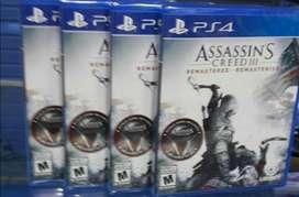 Assassins Creed 3 Remastered Ps4 Nuevo Sellado Stock