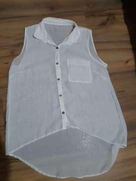 Camisa mujer gasa  sin mangas