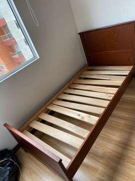Cama en madera sencilla 90 x 190 cm