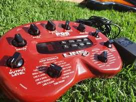 Pedal multiefectos para guitarra Line 6 pod versión 2.0 como nuevo