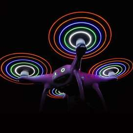 1 juego Helices Phantom Serie 4 Con Luces Led Flash