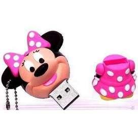 Memoria Usb 16 Gb Diseño De Minnie Mouse Disney Rosada