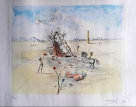 Grabado Papel Rives - Dali - Chevalier Cosmique