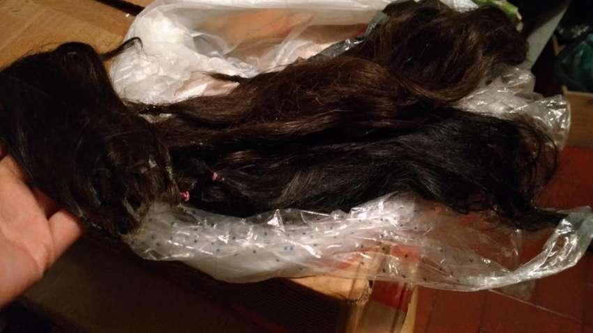 Mechones de cabello natural