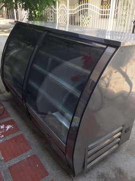 Nevera vitrina exhividora en acero solo frio