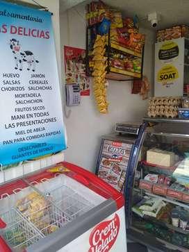 VENDO SALSAMENTARIA CON CORRESPONSAL BANCARIO Y VENTA DE MINUTOS