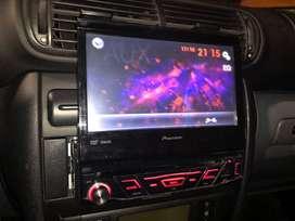 ESTEREO PIONEER con pantalla retractil