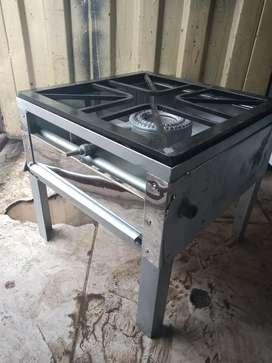 Estufa tamalera de un quemador.