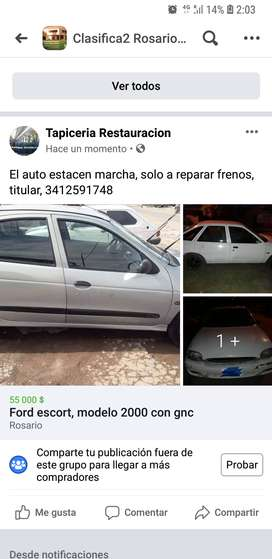Ford escort md 2000 con gnc
