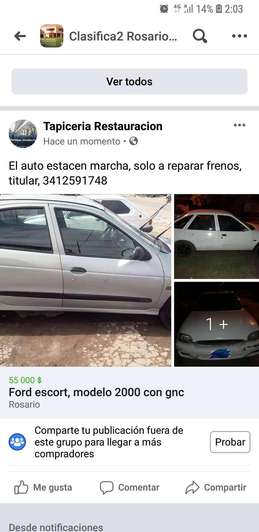 Ford escort md 2000 con gnc 0