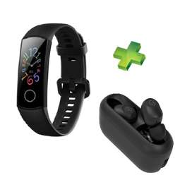 Combo Huawei Honor Band 5 + Haylou Audifonos Inalámbricos Gt2