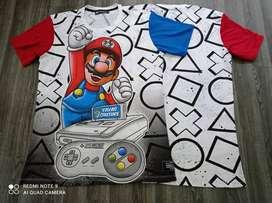 Camiseta Mario Bros. En tallas S-M-L-XL.