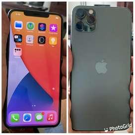 Iphone 11 pro max 64gb batería en 100 verde