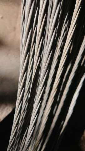Linga / Rienda /Cable de acero 1 x 7 x 6 mm de diámetro